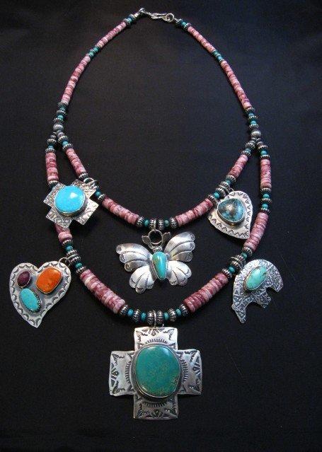 Image 1 of Unique Everett and Mary Teller Navajo Treasure Necklace