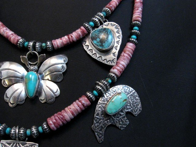 Image 2 of Unique Everett and Mary Teller Navajo Treasure Necklace
