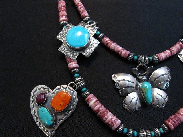 Image 3 of Unique Everett and Mary Teller Navajo Treasure Necklace