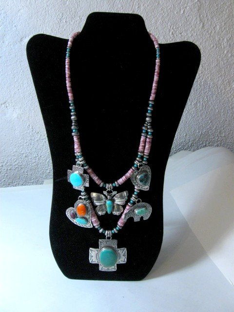Image 4 of Unique Everett and Mary Teller Navajo Treasure Necklace