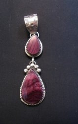 Navajo Double Purple Spiny Oyster Pendant, Selena Warner