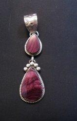 Navajo Purple Spiny Oyster Silver Earrings, Selena Warner