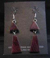 2-pc Navajo Purple Spiny Oyster Dangle Earrings, Selena Warner