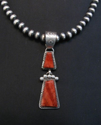 Image 0 of Navajo Double Red Spiny Oyster Pendant, Selena Warner