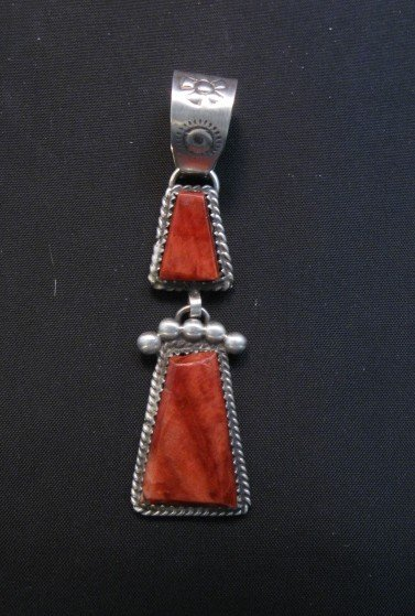 Image 1 of Navajo Double Red Spiny Oyster Pendant, Selena Warner