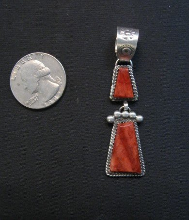 Image 3 of Navajo Double Red Spiny Oyster Pendant, Selena Warner