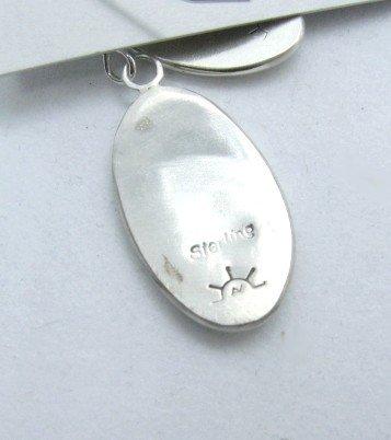 Image 2 of Oval Hopi Sterling Silver Overlay Dangle Earrings, Ambrose Namoki