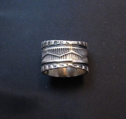 Image 3 of Sunshine Reeves ~ Navajo ~ Stamped Sterling Silver Thunderbird Ring sz9-3/4