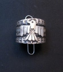 Sunshine Reeves ~ Navajo ~ Stamped Sterling Silver Thunderbird Ring sz9-3/4