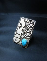 Alex Sanchez Navajo Squash Blossom Turquoise Necklace Earring Set