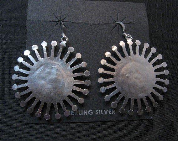 Image 2 of Zuni Turquoise Needlepoint Snowflake Earrings, Iva Booqua