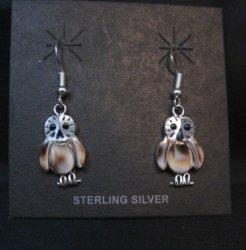 Zuni Multi Inlay Owl Earrings, Regina Kallestewa
