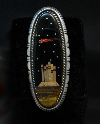 Image 4 of Long Navajo Monument Valley Night Sky Ring Matthew Jack sz8