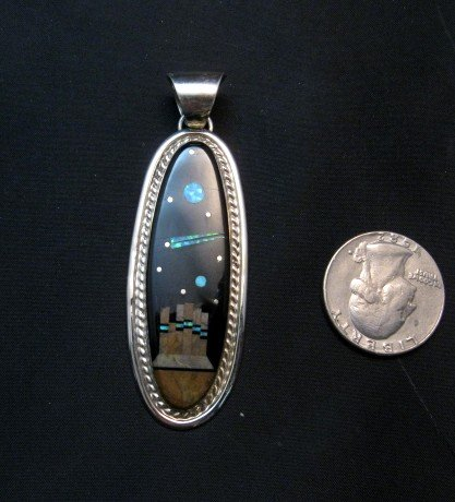 Image 1 of Long Navajo Monument Valley Night Sky Pendant, Matthew Jack