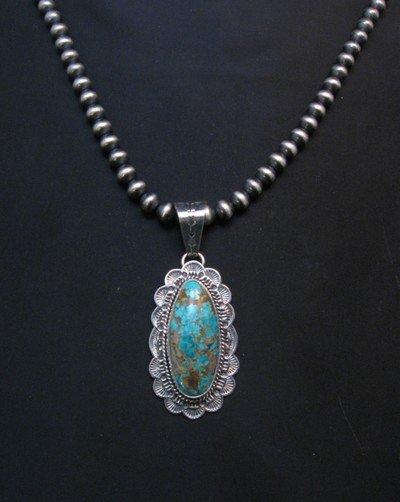 Image 2 of Navajo Sunshine Reeves Royston Turquoise Pendant