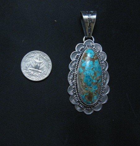 Image 6 of Navajo Sunshine Reeves Royston Turquoise Pendant