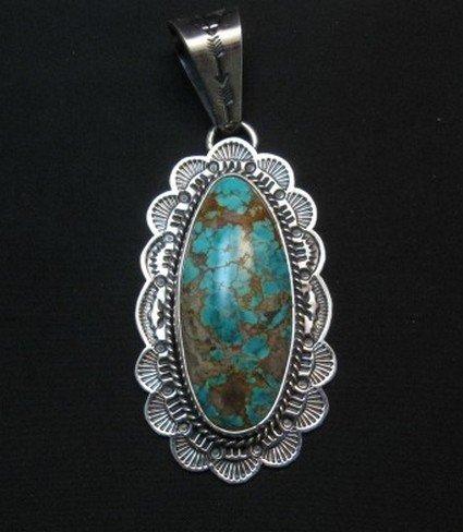 Image 0 of Navajo Sunshine Reeves Royston Turquoise Pendant