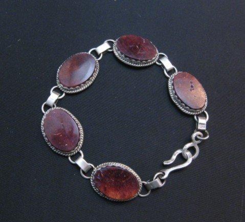 Image 1 of Navajo Purple Spiny Oyster Link Bracelet, Selena Warner
