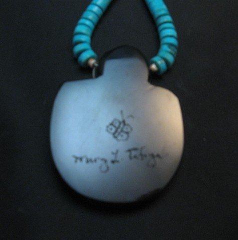 Image 3 of Santo Domingo Pueblo Indian Mosaic Inlay Necklace, Mary Tafoya