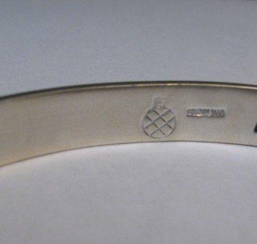 Image 3 of Hopi Handmade Silver Overlay Bracelet, Willie Dawungnufti
