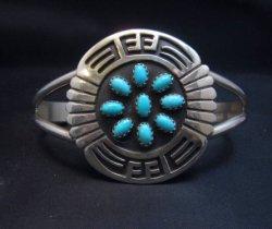 Rosco Scott Navajo Turquoise Sterling Silver Overlay Bracelet