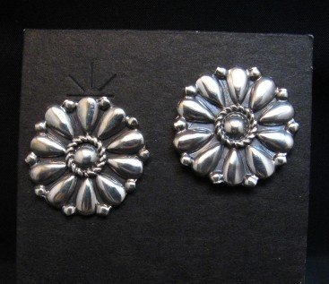 Image 0 of Melvin Francis Navajo Silver Concho Earrings