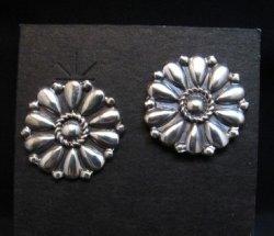 Melvin Francis Navajo Silver Concho Earrings
