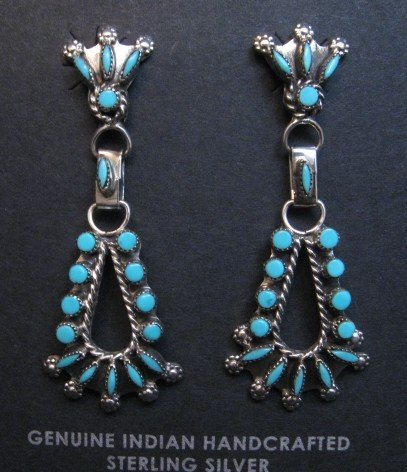 Image 0 of Native American Zuni Turquoise Earrings, Merlinda & Delbert Chavez
