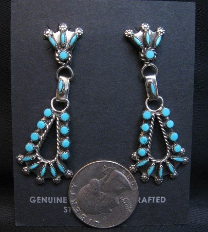 Image 1 of Native American Zuni Turquoise Earrings, Merlinda & Delbert Chavez