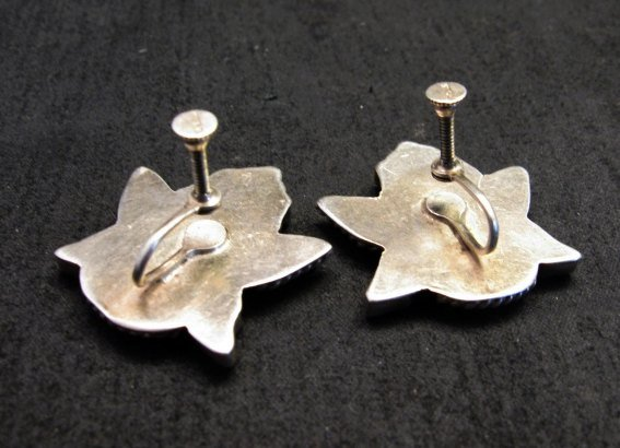 Image 1 of Vintage Pawn Zuni Knifewing Earrings - Screwback
