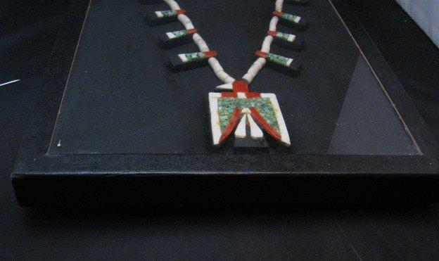 Image 9 of Vintage Santo Domingo Inlaid Depression Era Thunderbird Necklace