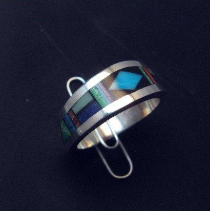 Image 0 of Jim Harrison Navajo Multistone Inlay Mens Ring sz12-1/4