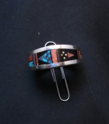 Jimmie Harrison Navajo Multigem Inlaid Band Ring sz10