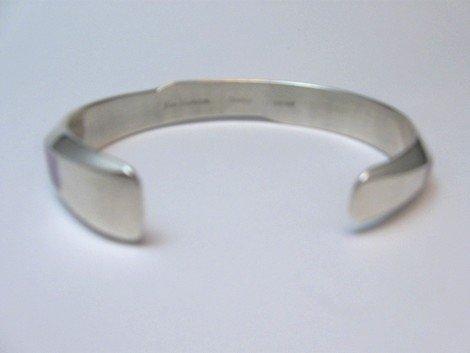 Image 5 of Narrow Jim Harrison Navajo Multistone Inlay Contemporary Bracelet, 6-3/4