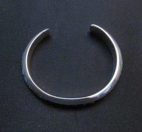 Image 4 of Jim Harrison Navajo Native American Multigem Inlay Bracelet, 5-7/8