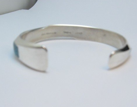 Image 4 of Jim Harrison Navajo Life Lines Multigem Inlay Bracelet, 6-7/16