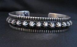 Navajo Star Burst Sterling Cuff Bracelet, Happy Piasso