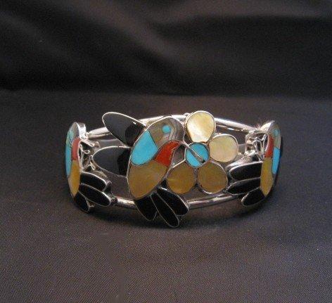 Image 0 of Ella Gia ~ Zuni ~ Inlaid Hummingbird Silver Bracelet