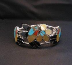 Ella Gia ~ Zuni ~ Inlaid Hummingbird Silver Bracelet