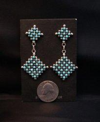 2-pc Zuni Turquoise Snake Eye Dangle Earrings, Calvert Lamy