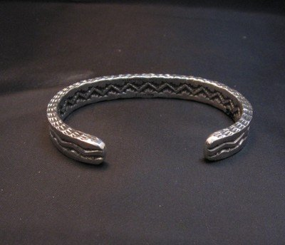 Image 3 of Sunshine Reeves Navajo 4-Sided Stamped Square Shank Stacker Cuff Bracelet