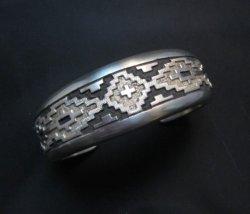 Dan Jackson Navajo Native American Rug Design Cuff Bracelet