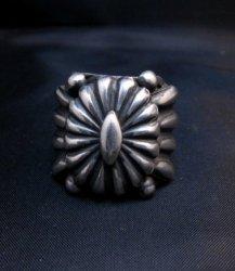 Wide Navajo Revival Style Silver Ring Sz6-3/4, Delbert Gordon