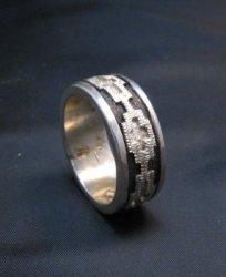 Narrow Dan Jackson Navajo Rug Design Silver Ring sz10-1/2