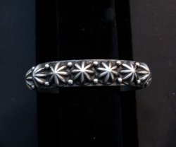 Navajo Star Sterling Silver Stacker Bracelet, Happy Piasso, Small