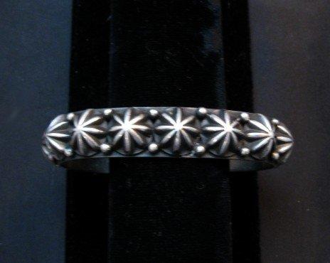 Image 0 of Native American Navajo Star Studded Bracelet, Happy Piasso, Medium