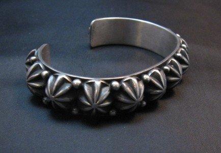 Image 2 of Native American Navajo Star Studded Bracelet, Happy Piasso, Medium