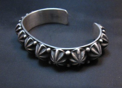Image 3 of Native American Navajo Star Studded Bracelet, Happy Piasso, Medium