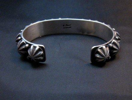 Image 4 of Native American Navajo Star Studded Bracelet, Happy Piasso, Medium