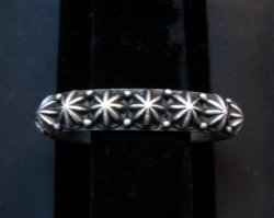 Native American Navajo Star Studded Bracelet, Happy Piasso, Medium